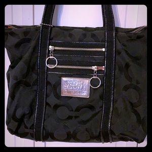Large Black Coach pocketbook